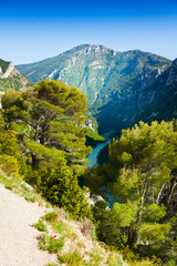 Verdon river panorama