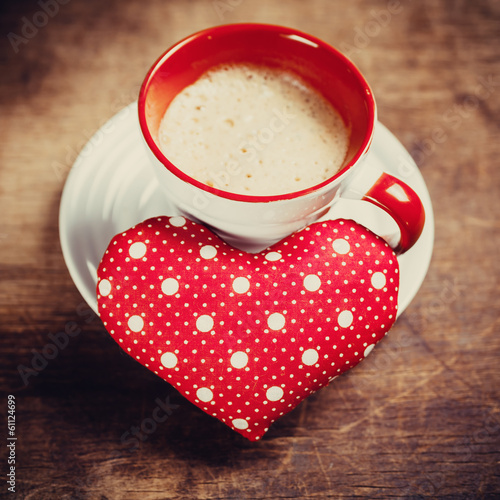 Coffee is done with love for sweet one. Valentine's day.