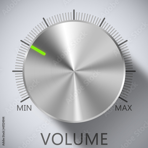 Chrome, Volume, Knob