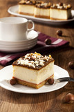 cheesecake with nuts on plate