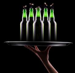open wet beer bottles