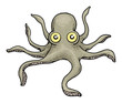 Cartoon octopus character