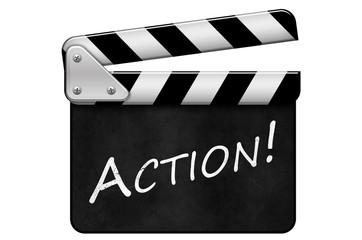 Regieklappe, Movie Clapper, Filmklappe, Action