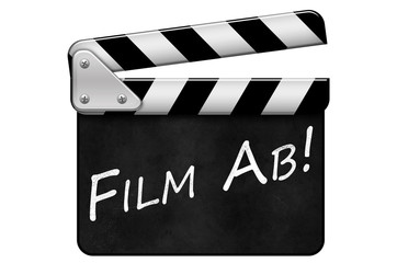 Regieklappe, Movie Clapper, Filmklappe, Film Ab
