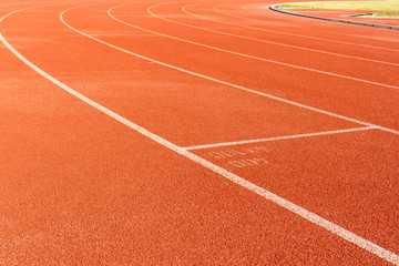 Arena sport lanes of running track.