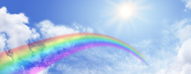 Rainbow Website Banner Header