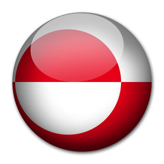 Groenland Flagge Button