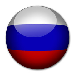 Russland Flagge Button