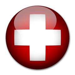 Schweiz Flagge Button