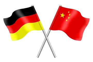 Flags: Germany and China