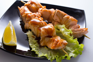 Salmon shashlik