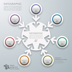 Infographics Vector Background 7-Step Process