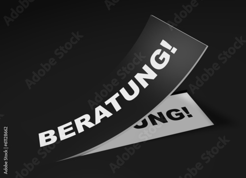 3D Etikett Schwarz - Beratung