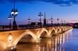 Leinwanddruck Bild - The Pont de pierre in Bordeaux