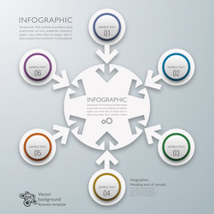 Infographics Vector Background 6-Step Process