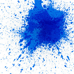 Abstract background with colorful ink splashes