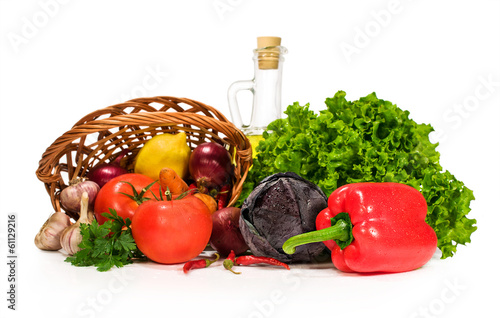 fresh vegetables and ingredients