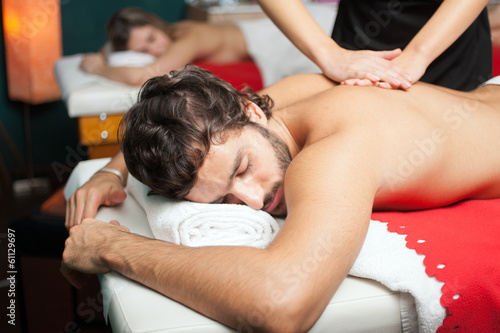 Couple having a massage