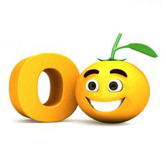 Letter O and orange