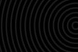 Blur concentric circles on a black background