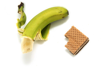 banana and hocolate biscuit