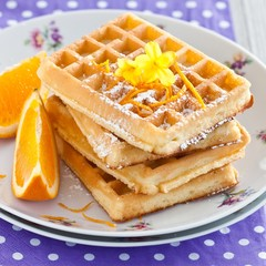 Oranges and waffles