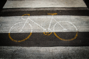 Bicycle road of sign
