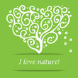 I love nature heart tree symbol
