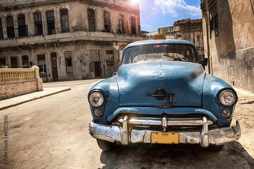 canvas print picture Cuba Car