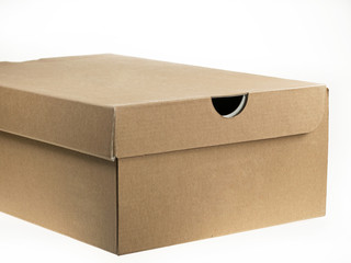 Shoebox - cardboard isolated on white