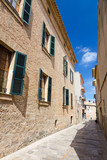 Small city street in Alcudia city