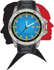 logo orologio sportivo unisex