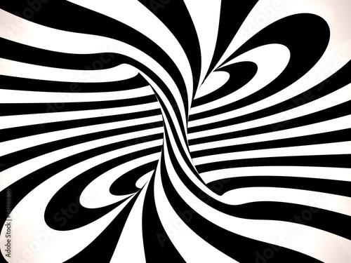 Swirl of lines, 3D