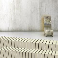 Bücherei - 3d Render