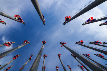 Thai flagpole