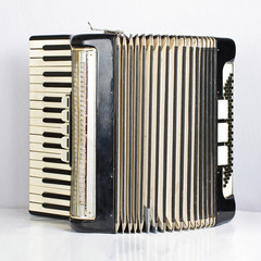 Black accordion opened