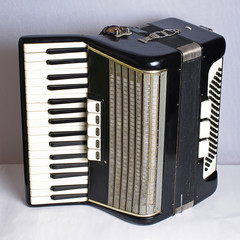 Black vintage accordion