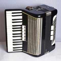 Black vintage accordion