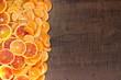Cornice di mandarini e arance