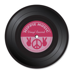 Hippie music vinyl record