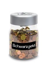 Spardose mit Schwarzgeld