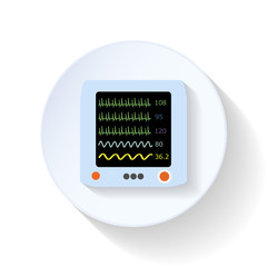 Resuscitation monitor flat icon
