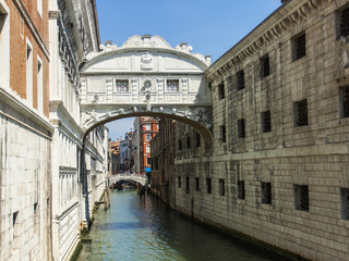 Venice, Italy. Typical urban view summer. bridge of Sighs
