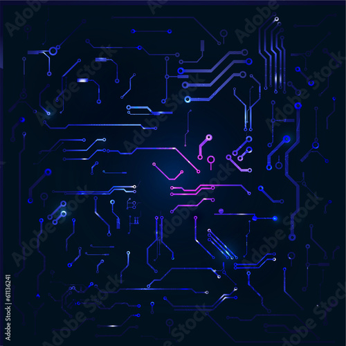 Abstract circuit technology background, Vector illustration