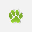 sticker animal paw, realistic design element