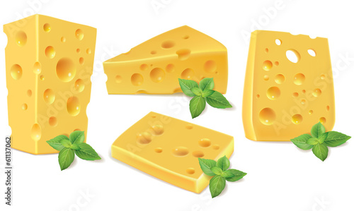 Cheese and basil
