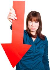 Frau ist beleidigt über Misserfolg