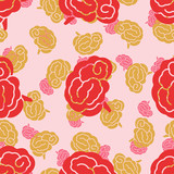 seamless pattern, brain