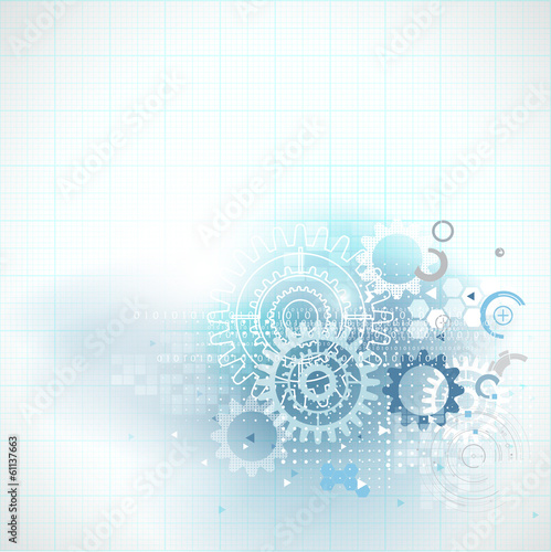 Abstract futuristic technology and science background, vector il