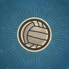 Retro grunge volleyball illustration